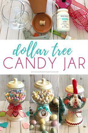 Photo of DIY Dollar Tree Candy Jar,  #Candy #DIY #Dollar #Jar #Tree