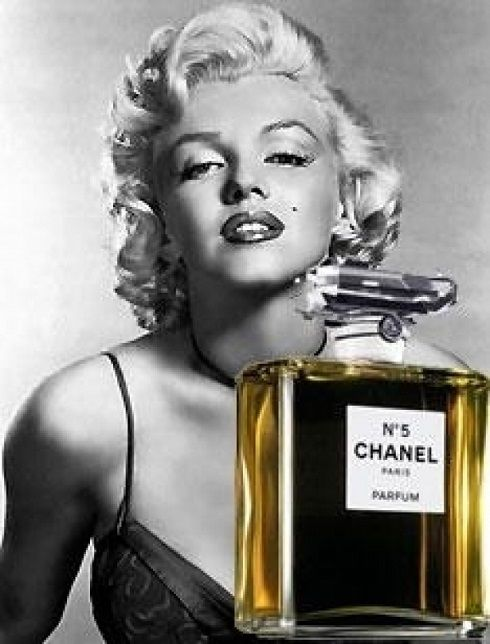 Image result for marilyn monroe chanel number 5