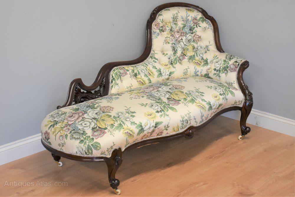 Fantastic Victorian Mahogany Chaise Sofa Antiques Atlas Antiques Creativecarmelina Interior Chair Design Creativecarmelinacom