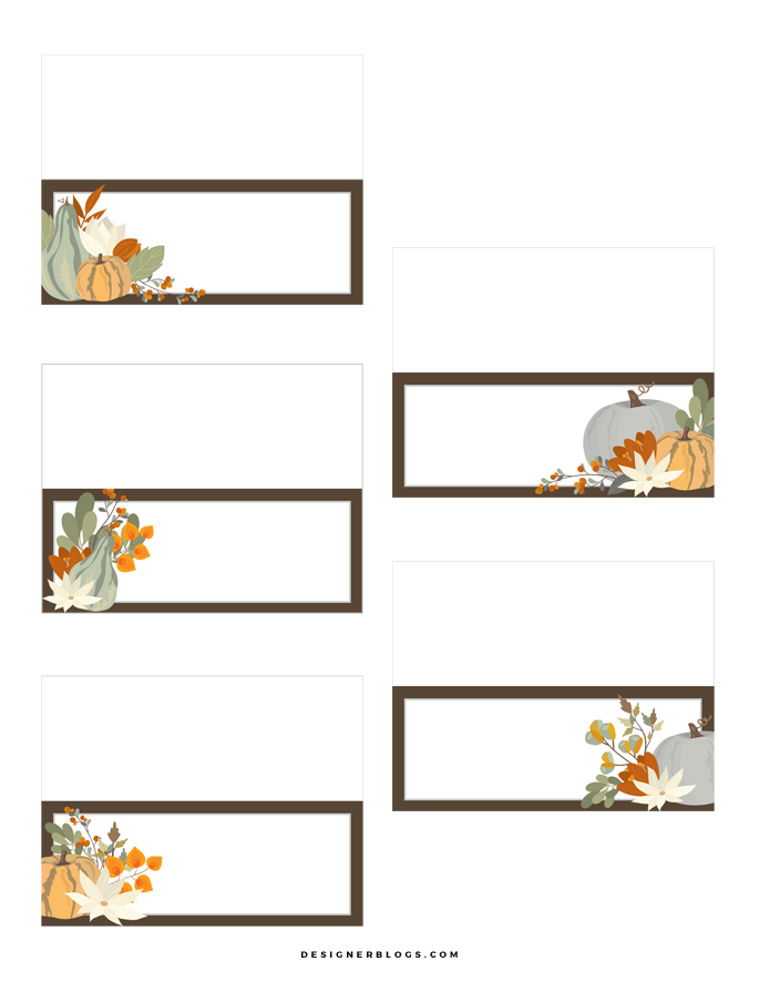 Free Thanksgiving Place Cards Printable Perfect For Table Decoration!