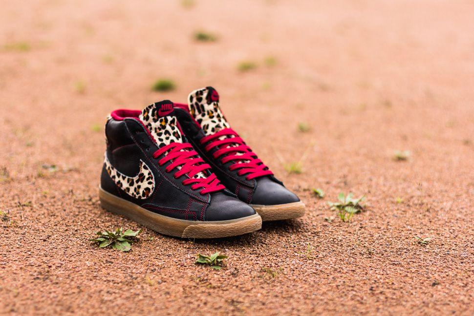 nike blazer vintage leopard