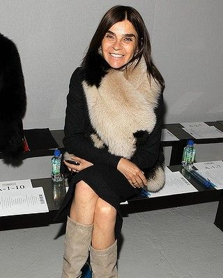 Carine Roitfeld attends Rodarte during Fall 2013 Mercedes-Benz Fashion Week on February 12, 2013 in New York City.