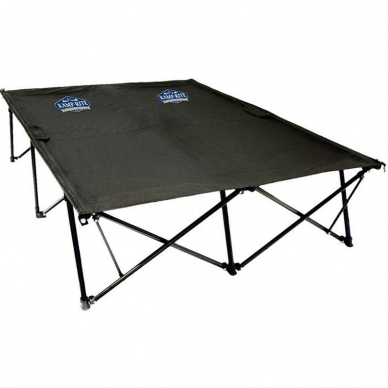 Camping Beds For Tents >> Kamp Rite Double Kwik Cot Black Campingcot Camping Cot
