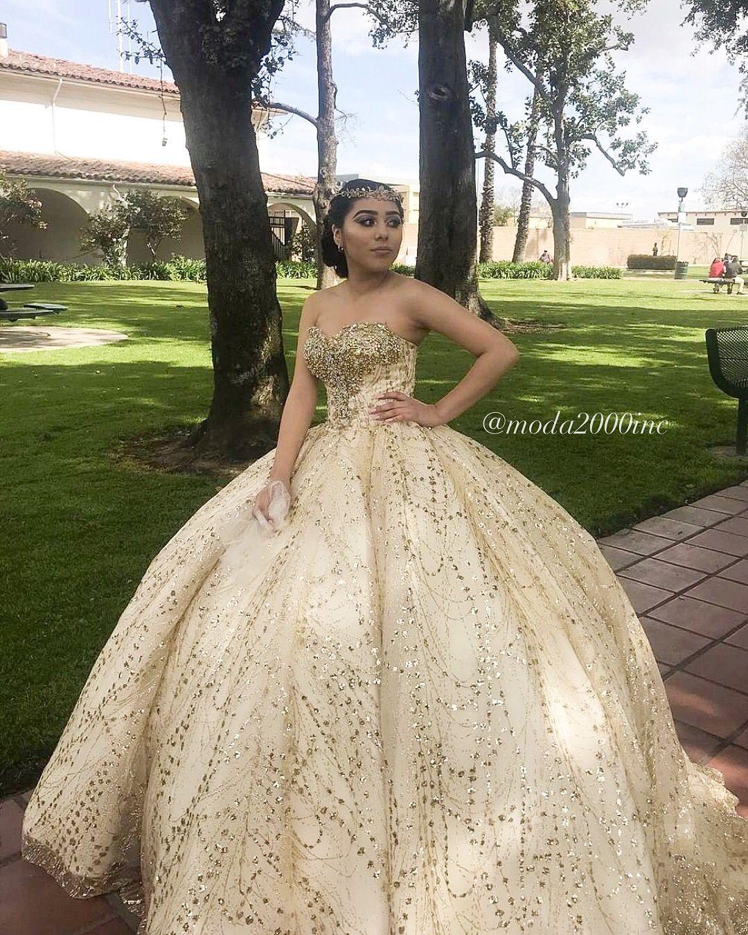 Glitter Gold Quinceanera Dress Quinceanera Dresses Gold Quinceanera Dresses Quince Dresses Mexican [ 1350 x 1080 Pixel ]