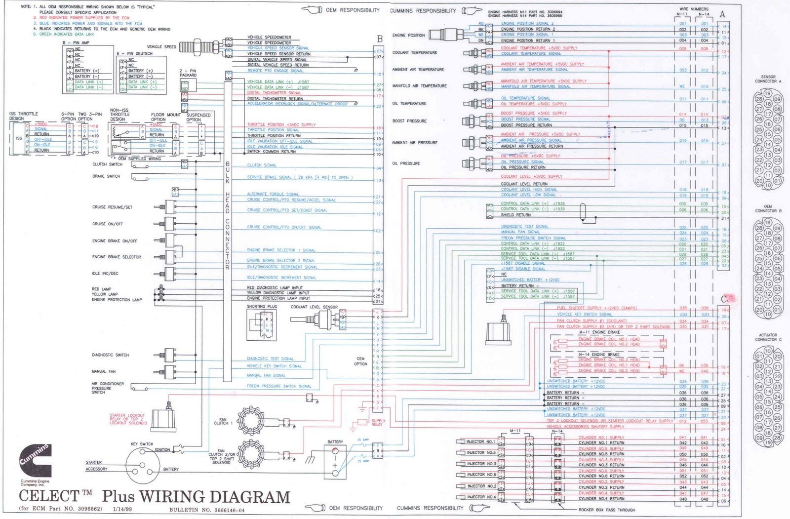 n14 celect wiring diagram for freightliner truck