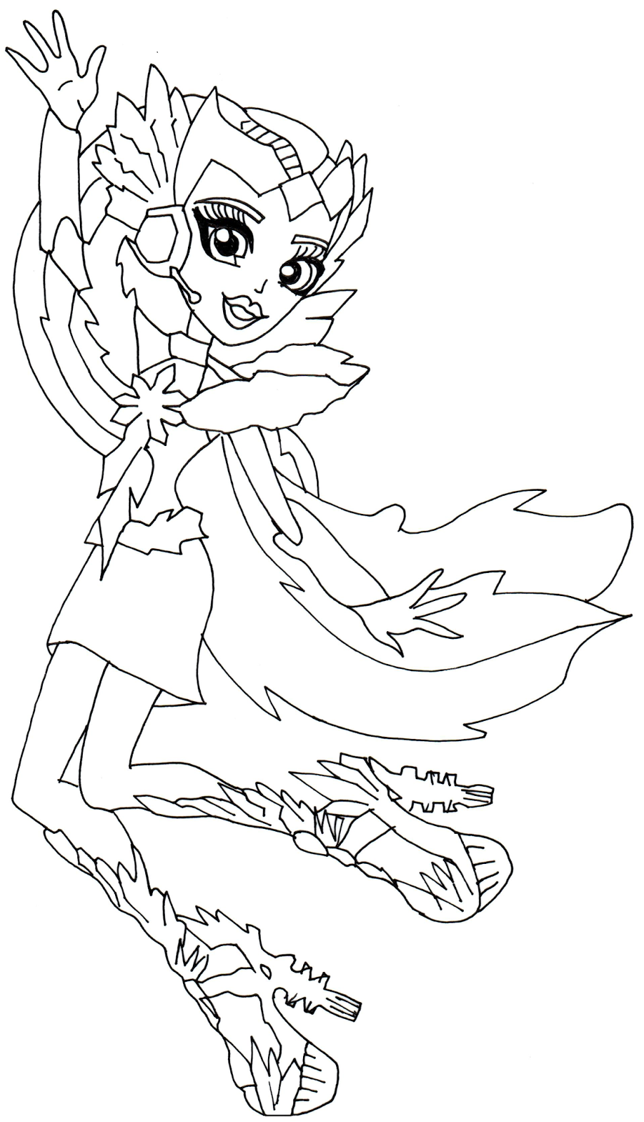 Coloring pages monster high - Astranova Monster High Coloring Page Png 918 1600