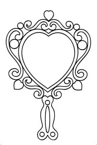 Image Result For Hand Held Mirror Drawing Hacer Tarjetas De Cumpleanos Espejo De Mano Espejo De Princesa