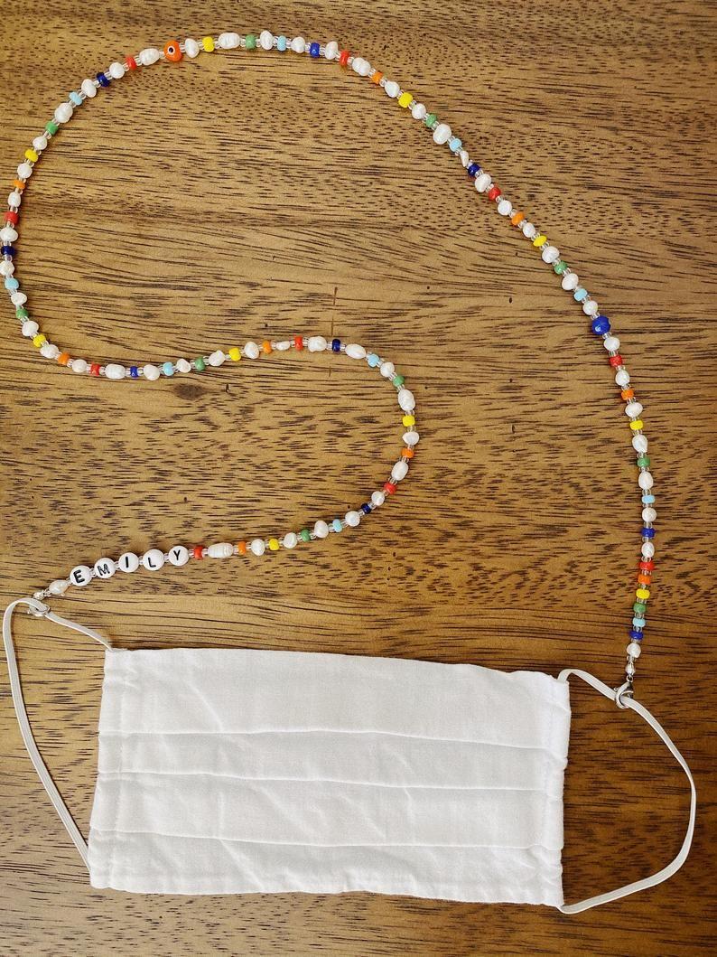 Custom beaded mask chain  personalized