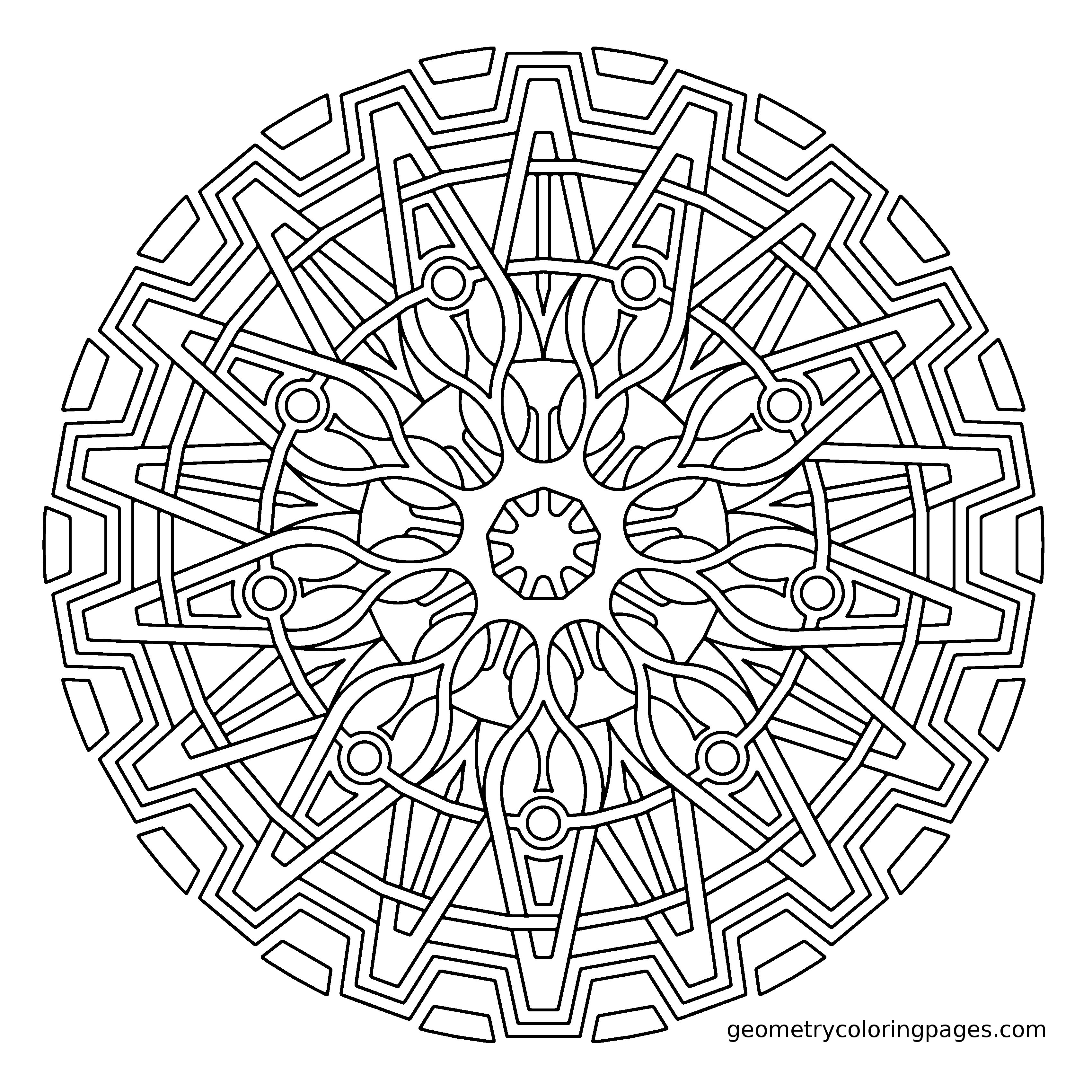 Coloring Page Origin Cog From GeometrycoloringpagesCom  Adult