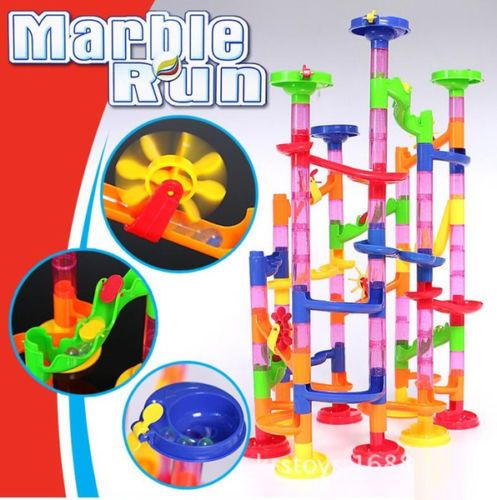 105pcs DIY Marble Race Run Maze Building Blocks Tower Game Child Kids Toys Gifts