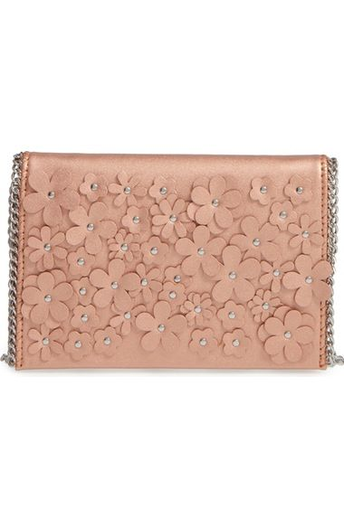 Chelsea28 Floral Faux Leather Clutch available at #Nordstrom