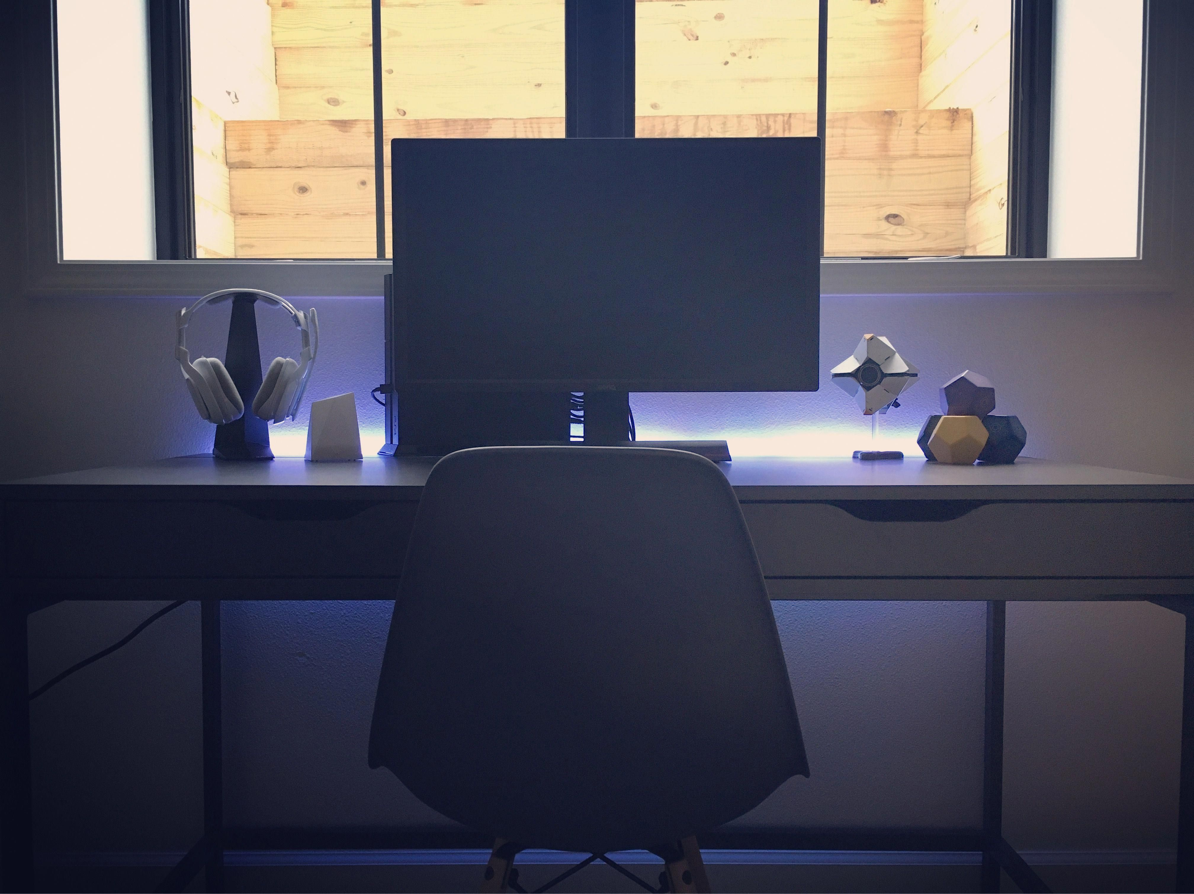 Ikea alex desk gray benq 27 gaming monitor poly and
