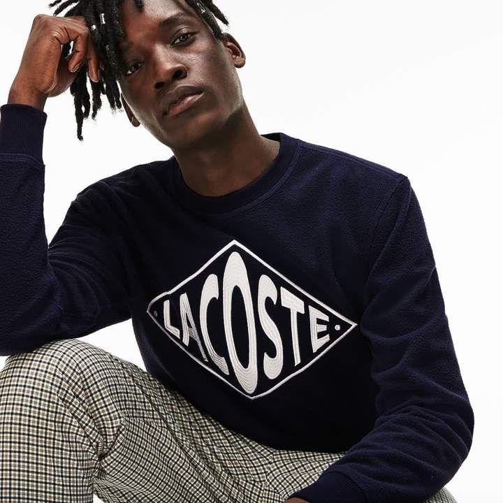 unisex live crew neck embroidered fleece sweatshirt