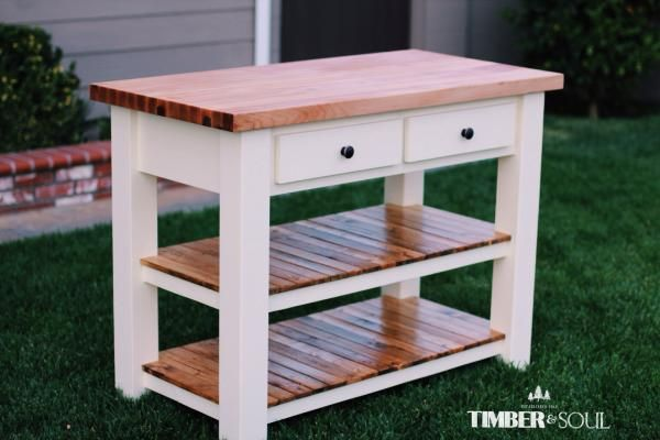 Butcher Block Kitchen Island Do It Yourself Home Projects From Ana White Butcher Block