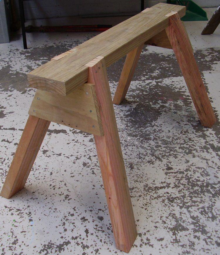 The Secret Of Home Woodworking Businesses How To Make A Saw Horse The Secret Of Home Woodworking Businesses Disc In 2020 Sagebock Diy Holz Holzbearbeitung Werkbank