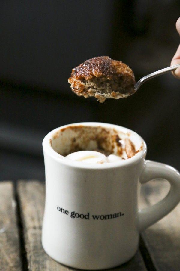 Snickerdoodle Mug Cake {single serve cinnamon vanilla ...