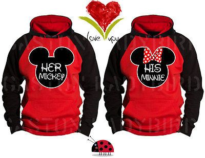 79eef25288 Her Mickey and His Minnie Disney Love Matching Couple Hoodie -Price for 1-