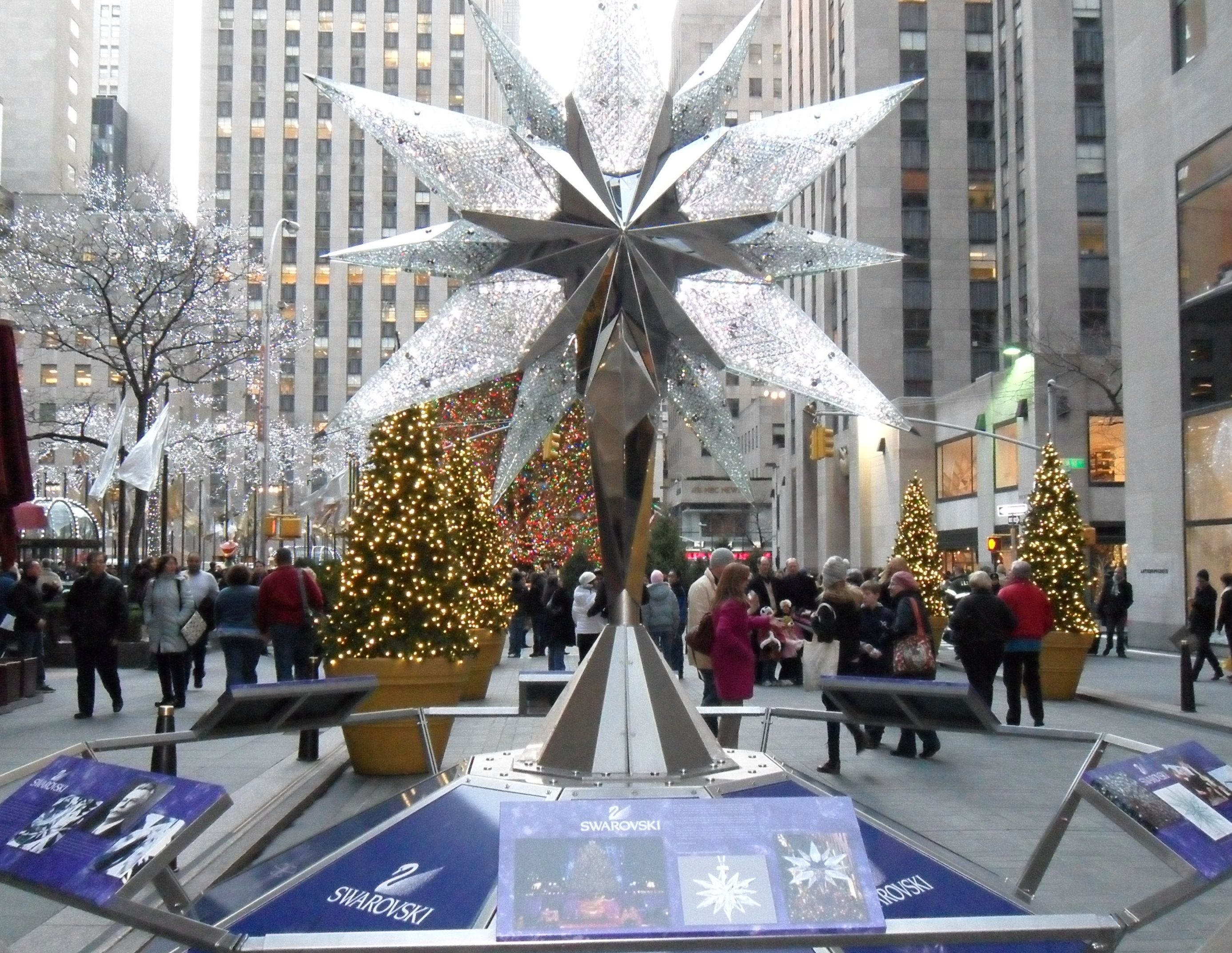 Swarovski Crystal display at Rockefeller Center in New York City