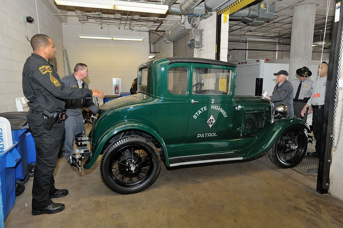 Check out this vintage highway patrol car the museum