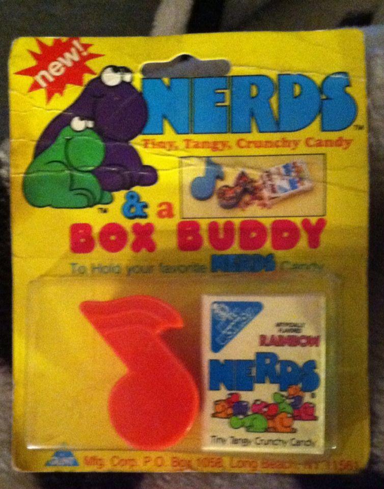 Vintage 1985 sunmark wonka nerds & box buddy, unopened.
