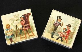 Pair of Victorian Chromo Lithograph Boxes Decorated with Enfant Maiden from MA PETITE PARISIENNE on Doll Shops United http://www.dollshopsunited.com/stores/mapetiteparisienne/items/1288404/Pair-Victorian-Chromo-Lithograph-Boxes-Decorated-Enfant #dollshopsunited