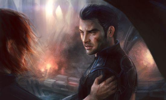 Mass Effect - Leaving Earth Canvas Print