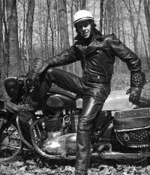Gay black biker