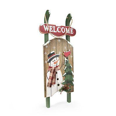 Rustic Wood Sled at Big Lots #BigLots #BigLots Christmas Like