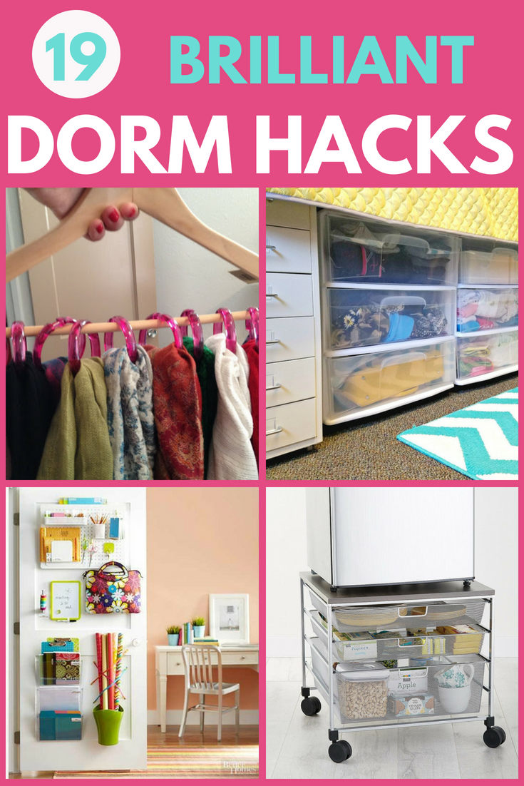 Dorm Room Organization - Great Hacks for Organizing a College Dorm Room