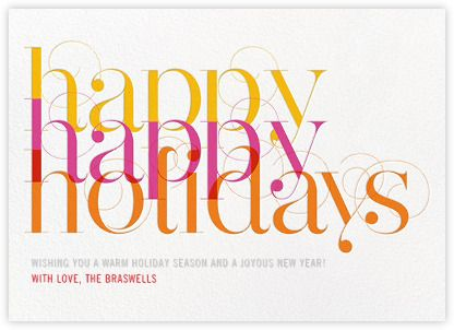 holiday cards online at paperless post - Holiday Cards Online