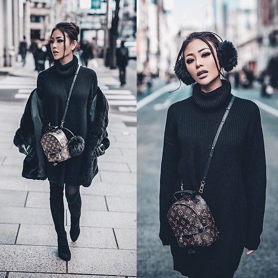f9540e7c0bbd Beautiful outfit with Louis Vuitton mini back bag.