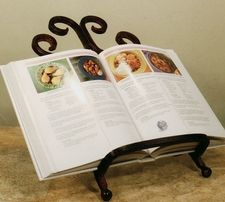 Picture Easel - Cookbook Holder - Plate Easel - Wrought Iron
