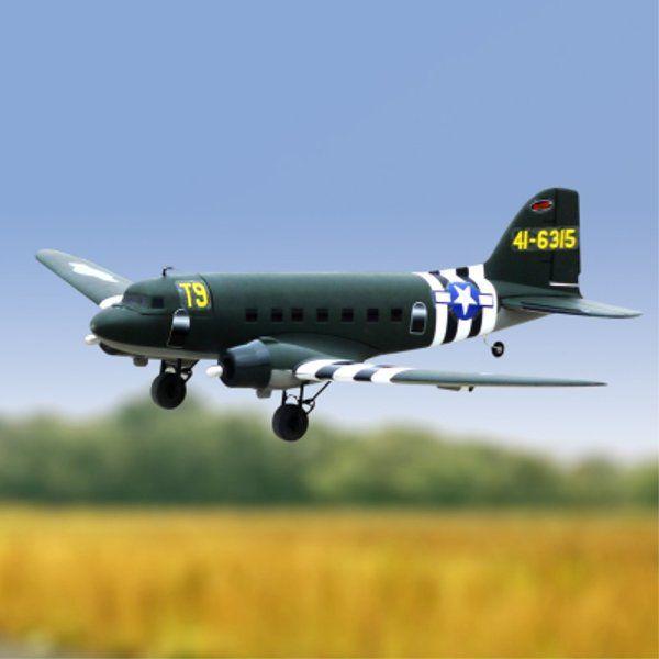Dynam C-47 Skytrain Green 1470mm Envergadura EPO Escala RC
