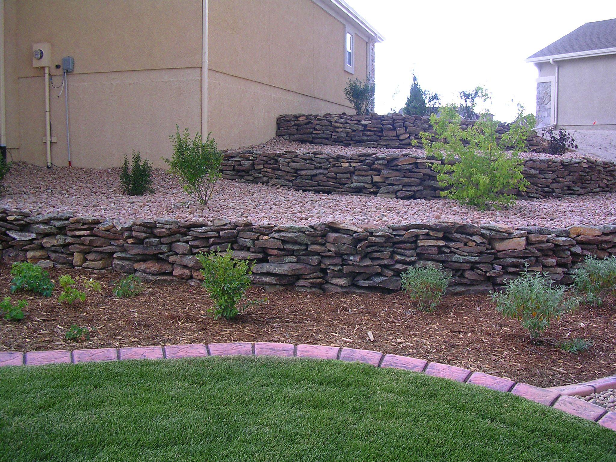 Moss Rock Retaining Walls Retaining Walls Landscaping