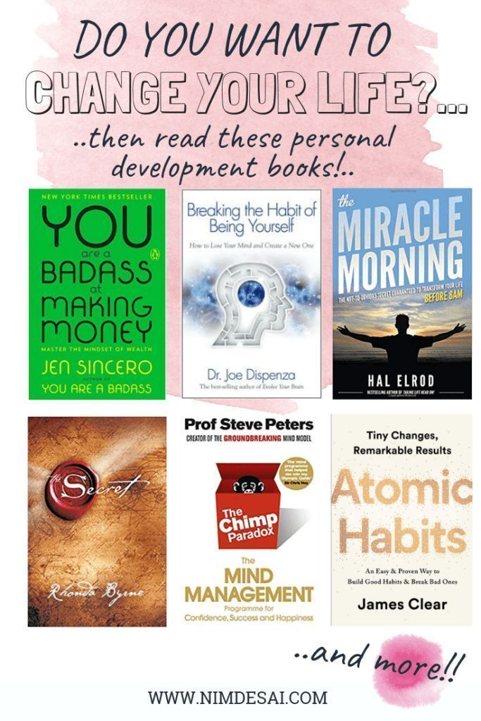 Are you looking to improve your life, accomplish big goals or build your dream life? or are you looking for self-help books that are truly helpful? Here are eight life-changing books to add to your reading list! #personaldevelopmentbooks #bookstoread #books #reading #personaldevelopmentbookstochangeyourlife #changeyourlife #howtosetgoals #howtobuildnewhabits #howtobreakbadhabits #lawofattraction #morningroutine #lifechangingbooks