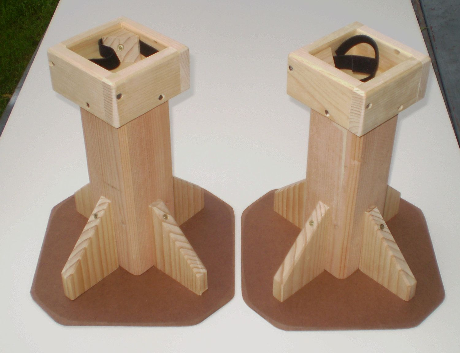 12 Inch Bed Risers All Wood Construction Unfinished Sold In