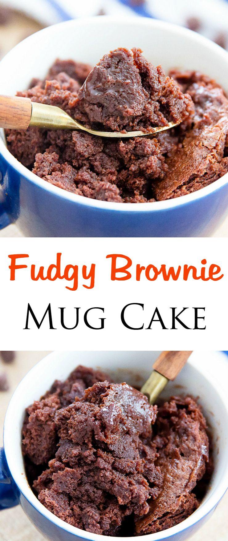 Brownie Mug Cake | Recipe | Mug recipes, Food, Dessert recipes