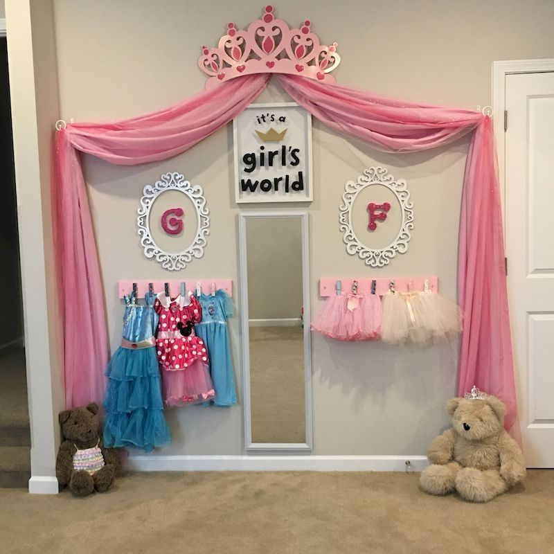 39 Budget Friendly Projects For A Kid S Play Area Homeridian Com Toddler Girl Room Princess Bedrooms Baby Girl Room