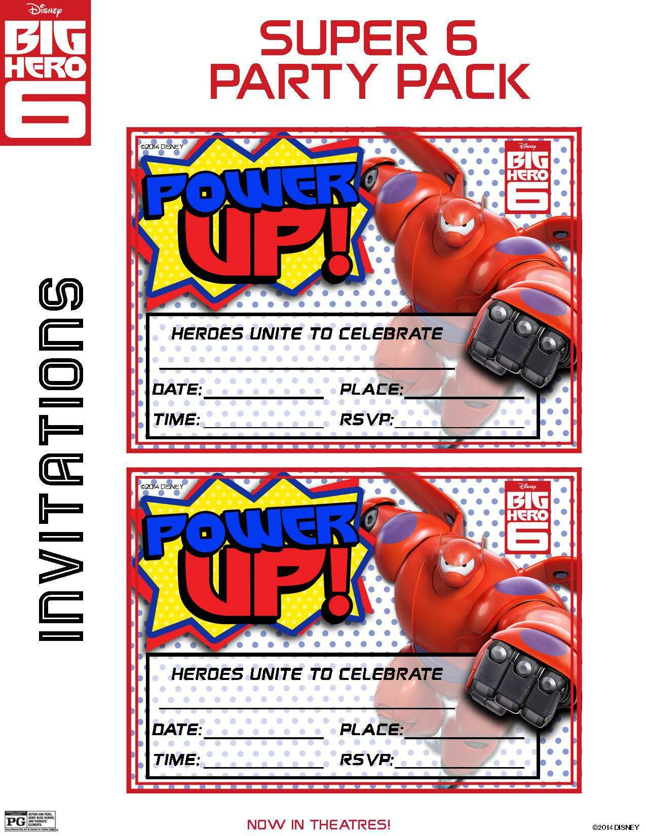Big Hero 6 Activity Pages and Free Printable Big Hero 6 Party ...