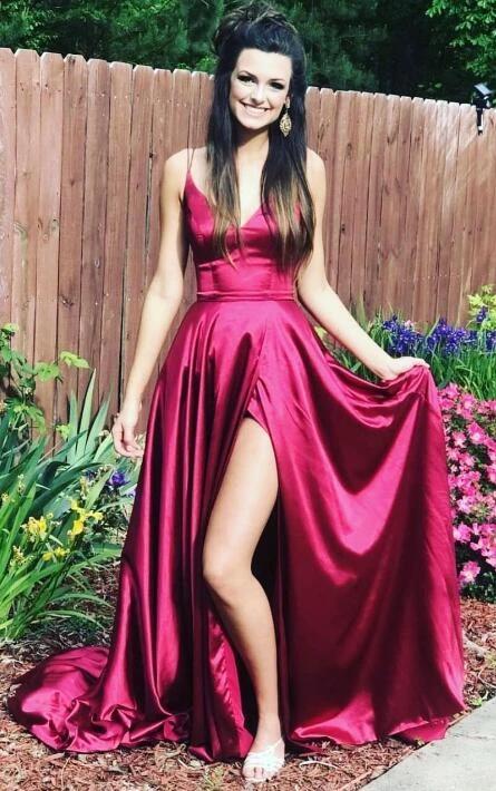 Einfache lange Abendkleid, Fashion School Dance Kleid, Winter Formal Dress – PromD …   – Long Prom Dresses