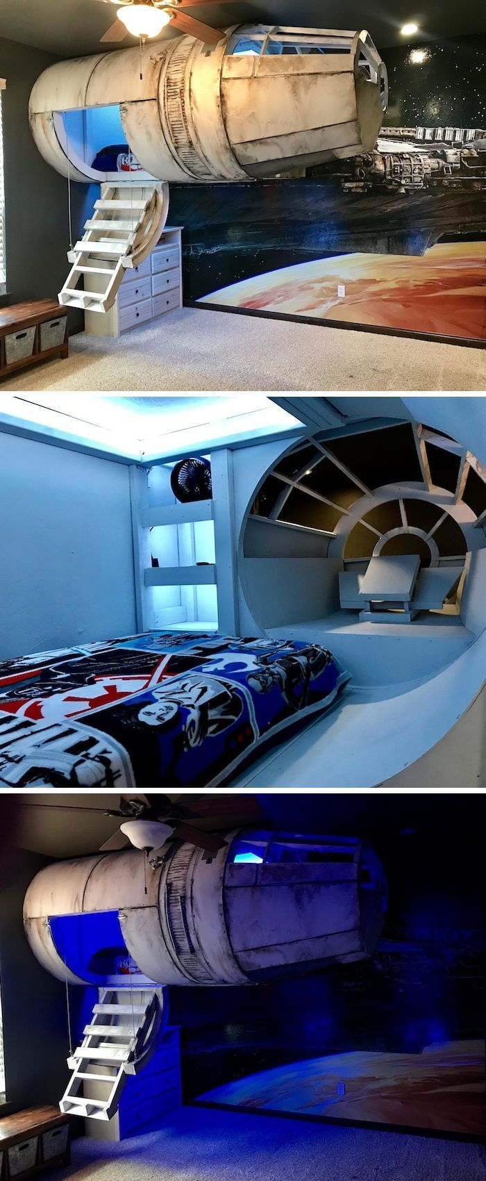 Parents Build An Elaborate Star Wars Bed To Get Their Son To Sleep