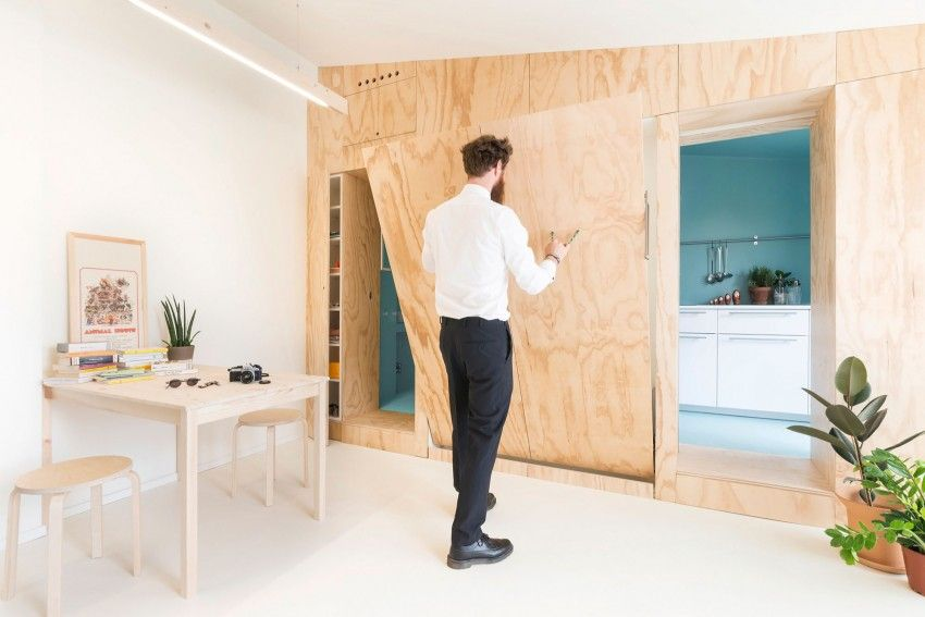 Garage Inrichting Gebruikt : Compacte studio waarbij de ruimte optimaal wordt gebruikt