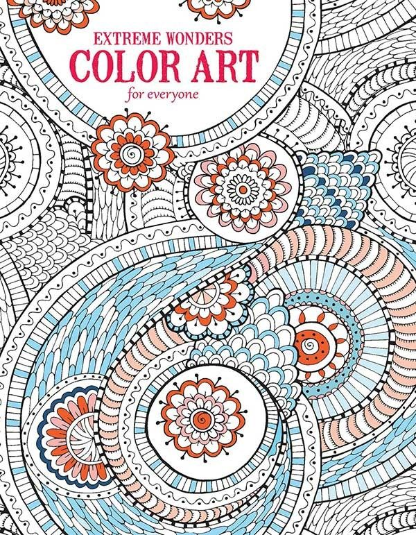 Extreme Wonders Color Art For Everyone Leisurearts Com Coloring Books Wonder Art Colorful Art
