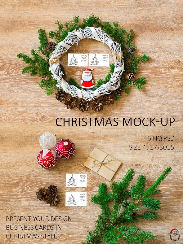 Christmas Mockups Photoshop Psd Business Card Advanced Available Here Https Graphicriver Ne Christmas Design Business Card Design Christmas Templates