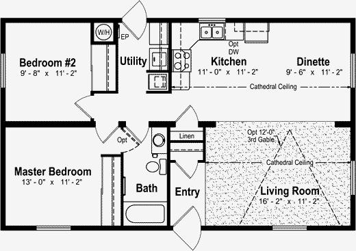 Plan 1 24 Ft X 24 Ft: 24 X 40 Floor Plans - Google Search