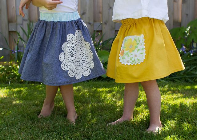 little skirts with vintage flair (with tutorials) from skirt as top