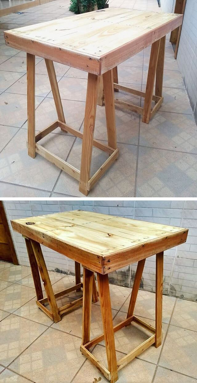 pallet table made from wood #projekteimfreien