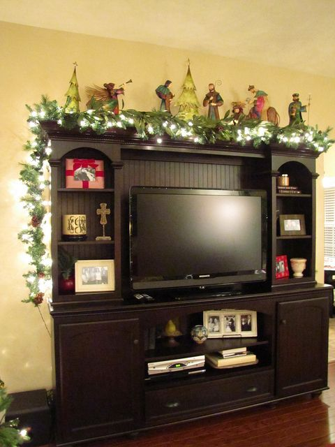 Keeping Up With The Joneses Our Christmas Home Living Room Entertainment Center Entertainment Room Decor Entertainment Center