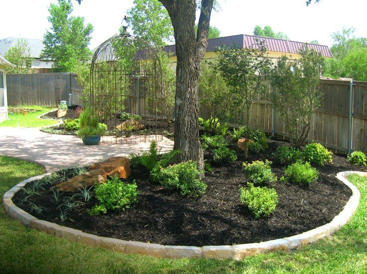 modest landscaping trees