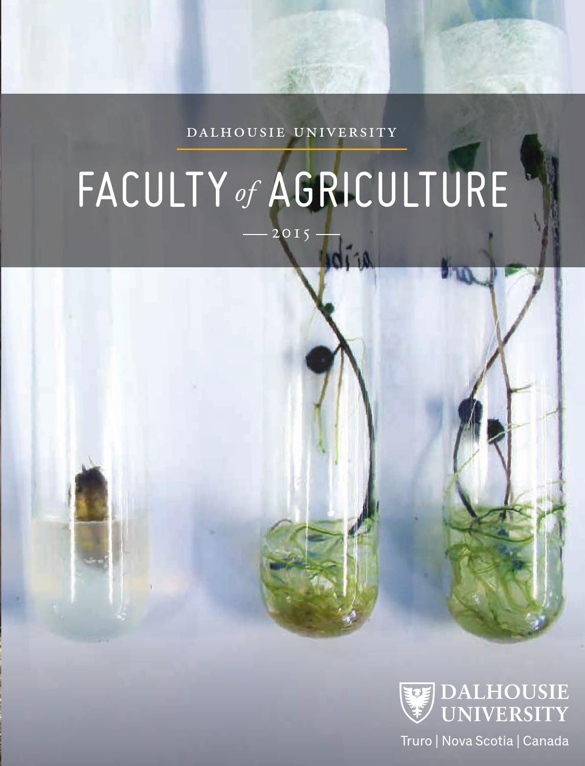 Faculty of Agriculture Viewbook 2015